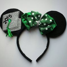 Check out this item in my Etsy shop https://www.etsy.com/listing/227205989/class-of-2015-minnie-mouse-inspired-ears