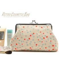 Clearance sale cute canvas dot cosmetic bag make up bags clutch bag for women cheapest in aliexpress free shipping-in Cosmetic Bags & Cases ...