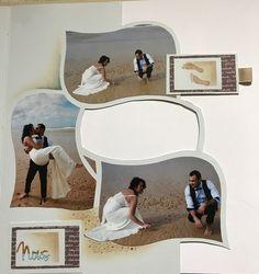 Alizé plusieurs pages Scrapbook Designs, Scrapbook Pages, Album Photo, Stencils, Photos, Polaroid Film, Crafty, Wedding, Tutorials