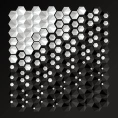 FOLLOW our GROUP MATERIAL CMF TRENDS or visit www.chameo-design.com/shop/ I hexagon pattern black & white shadow