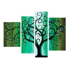 - Description - Why Accent Canvas? This exquisite Green Contemporary Tree Landscape Canvas Wall Art Oil Painting is hand-painted on canvas by one of our master artists. Simple Oil Painting, Oil Painting On Canvas, Canvas Art Prints, Canvas Wall Art, Tree Wall Art, Tree Art, Multiple Canvas Paintings, Magical Tree, Painting Inspiration