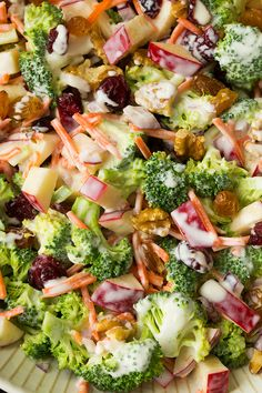 'Broccoli Apple Salad' Serves 7-8 - Saved from www.cookingclassy.com ~ Wendy Schultz ~ Salads + Dressings.