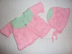 Preemie sweater & Bonnet
