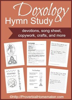 Study the doxology with your kids with devotions, song sheets, copywork and more. | ProverbialHomemaker.com