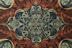 Astonishingly Dense Quilled Paper Rugs by Lisa Nilsson
