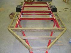 HF 4x8 mini-camper-trailer: frame extension detail
