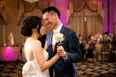 bride and groom first dance at trump national golf club wedding photography