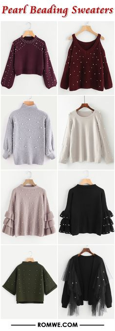 Pearl Beading Sweaters