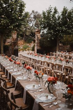 This stylish destination wedding in Mallorca, Spain was full of warm floral tones, wood, and stone created an elegant palette for this couple's destination wedding. Wedding Colors, Wedding Flowers, Wedding Dresses, Wedding Table, Fall Wedding, Civil Wedding, French Wedding, Wedding Season, Wedding Reception