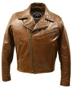 Half Belt Classic Biker Bison Jacket