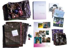 ABC Home and Planet org-charity cards in recycled vintage silk sari pouches