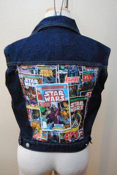 Star Wars Comic Book Cover Zana Di Denim Jean by GrapesAndBananas, $45.00