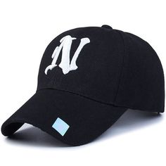 Low-Key Casual Wild Ordinal Letter Embroidery Men and Women Couple Cap Color : Gray