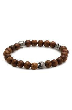 Free shipping and returns on Cufflinks, Inc. Skull Bead Bracelet at Nordstrom.com. Pewter skull beads detail an eye-catching bracelet designed by f. is for frank and handcrafted in the USA with earthy wooden beads.