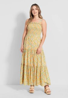 Cute Dresses, Vintage Dresses, Summer Dresses, 1960s Inspired, Floor Length Dresses, Modcloth, Boho Dress, Dress Collection, Boho Fashion