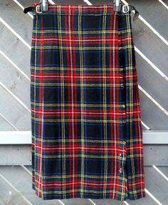 BRAEMAR Wool Kilt Woven In Scotland Vintage Size by SunDazeVintage, €14.99