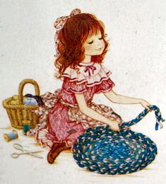 160 Miss Petticoat Holly Hobbie, Country Art, Country Girls, Mary May, Dibujos Cute, Gif Animé, Christmas Scenes, Naive Art, Cartoon Pics