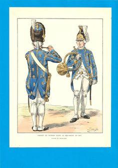France - Planche de JOB  - Projet de tenue pour le Régiment du ROI.2. | Collections, Militaria, Documents, revues, livres | eBay!