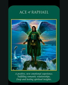 Ace of Raphael card from Archangel Power Tarot Cards by Doreen Virtue and Radleigh Valentine