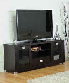 Take a look at this Dark Brown Matlock Modern Media Stand by Baxton Studio on #zulily today!