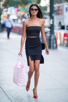 NEW YORK, NY - AUGUST 30:  Model Daniela Braga is seen going to fittings for the 2017 Victoria's Secret Fashion Show in Midtown on August 30, 2017 in New York City.  (Photo by Gotham/GC Images) via @AOL_Lifestyle Read more: https://www.aol.com/article/lifestyle/2017/11/09/melania-trump-turns-heads-in-custom-dolce-and-gabbana-gown/23271993/?a_dgi=aolshare_pinterest#fullscreen