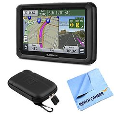 """Bundle Includes dezl 570LMT 5"""" GPS Navigation System with Lifetime Map and Traffic Updates 5 inch Protect, Stow and Carry Case Micro Fiber Cloth Advanced GPS for Trucks 5.0-inch glass display Free lifetime maps and traffic avoidance information Custom truck routing for the size and weight..."""