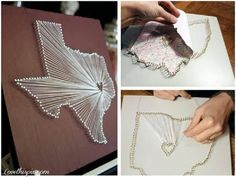 DIY Map Art : DIY Map Panel Wall Art Pictures. Mexico and USA