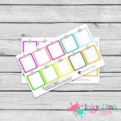 New to InkyDinkPrinting on Etsy: Clip Board / Checklist / Planner Stickers / Erin Condren / Happy Planner / Plum Planner / Stickers / EC Life Planner / Limelife / HS-25 (3.00 USD)