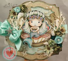 From our Design team! Card by Linda Levoir featuring the Club La-La Land Crafts (August) exclusive Sitting Mermaid Marci and exclusive dies Seaweed Border and Under the Sea Set. Club La-La Land Crafts subscription details are here - http://lalalandcrafts.com/Club_La-La_Land_Crafts.html Coloring details and more Design Team inspiration here - http://lalalandcrafts.blogspot.ie/2014/08/club-la-la-land-crafts-august-2014_26.html