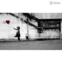 banksy girl with balloon print - Google Search
