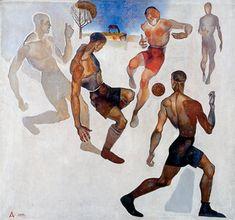 Football, 1924 - Alexander Deineka - 1200artists.com