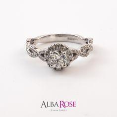 Alba Rose diamond engagement ring.   https://www.albarose.com