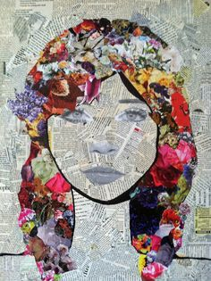 The kind of exclusive collage portrait art works we are going to be depicting here will have a theme within a theme. Like for instance, you can use bits and pieces Projects 40 Exclusive Collage Portrait Art Works L'art Du Portrait, Collage Portrait, Drawing Portraits, Portrait Ideas, Portraits For Kids, Club D'art, Art Club, Art Du Collage, Mixed Media Collage