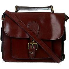 Burgundy Leather Satchel Bag**