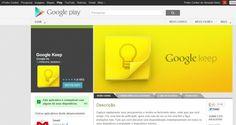 GOOGLE KEEP: Saiba tudo sobre o novo serviço gratuito do Google que permite criar listas de tarefas e lembretes na forma de texto, imagem, áudio ou listas. Clique no link para ver o BLOG Conectividade: http://www.ibahia.com/a/blogs/conectividade/2013/03/21/google-keep-novo-servico-de-anotacoes-que-concorre-com-evernote/