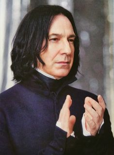 Alan Rickman as Severus Snape Professor Severus Snape, Harry Potter Severus Snape, Severus Rogue, Harry Potter Cast, Harry Potter Characters, Harry Potter Universal, Harry Potter Fandom, Draco Malfoy, Harry Potter Hogwarts