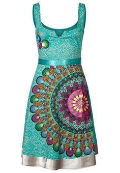 Turquoise desigual dress