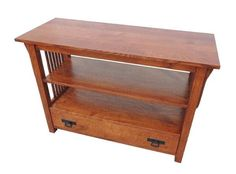 Amish Prairie Mission TV Stand This beauty is a top seller at DutchCrafters. Bring home the beauty and durability of solid wood furniture. The Prairie Mission hosts in living room with a space to display your TV with added storage shelves and drawers. #Amishfurniture