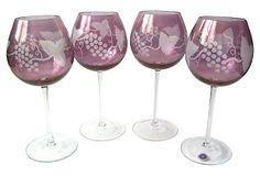 Amethyst Wine Goblets, S/4 on OneKingsLane.com
