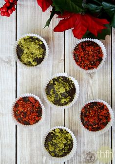 Dark Chocolate Cups with Pistachios and Goji Berries - Raw, Vegan, Gluten-Free, Dairy-Free, Paleo-Friendly, No Refined Sugars | The Healthy Family and Home #valentinesday #dessert #raw #vegan #glutenfree #healthy