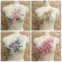 Applique Fabric, Lace Fabric, Beaded Wedding Gowns, Wedding Dresses, Floral Patches, Flower Patch, Designer Dresses, Sequins, Costumes