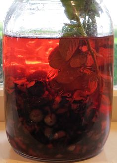 Blueberry Vinegar: white vinegar can be transformed into anything delicious when steeped with fresh fruit or herbs.  And once you have a bottle of delicious vinegar in your pantry a delicious vinaigrette is only moments away! It's all in the preparation.