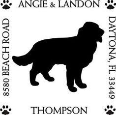 Golden Retriever Square Return Address Stamp Dog Address Stamps $21.00 + shipping