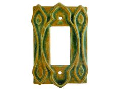 Ceramic Light Switch Cover Moroccan Single by HoneybeeCeramics, $20.00