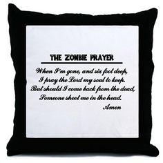 Zombie Prayer Pillow #ZOMBIES #PILLOWS