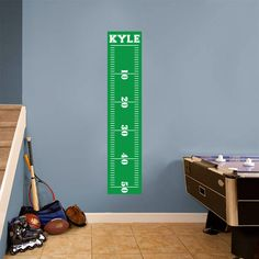 Custom Football Growth Chart Printed Wall Decals Wall Decor Stickers