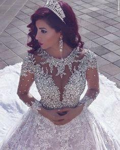 New Wedding Dresses Vintage Lace Backless Beading Ideas Amazing Wedding Dress, Cute Wedding Dress, New Wedding Dresses, Bridal Dresses, Lace Wedding, Turkish Wedding Dress, Luxury Wedding, Formal Wedding, Trendy Wedding