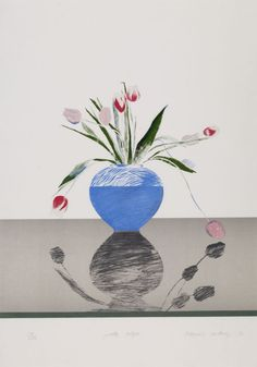 David Hockney (UK b. 1937) Pretty Tulips (1969) lithograph in colours 72.3 x 50.5 cm