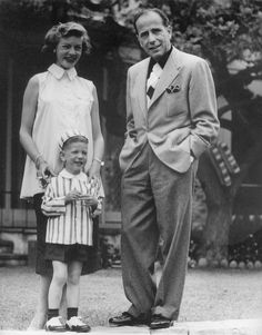 Humphrey Bogart and Lauren Bacall with son Stephen