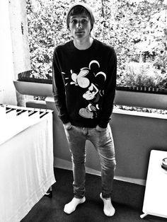 ad899813 Topman Grey Skinny Jeans, Mickey Mouse Sweatshirt, Oversized Beanie, Nike  Socks :D